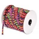 SBT4mm-11 - (1 metru) Snur bumbac tribal rotund multicolor 4mm