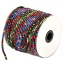 SBT4mm-06 - (1 metru) Snur bumbac tribal rotund multicolor 4mm