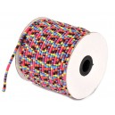 SBT4mm-15 - (1 metru) Snur bumbac tribal rotund multicolor 4mm