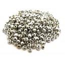 MN4mm-69 - (45 grame) Margele nisip argintii electroplacate 4mm