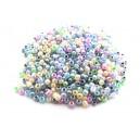 MN2mm-45 - (25 grame) Margele nisip mixt 01 culori pale irizate 2mm