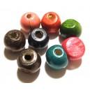 (10 buc.) Margele lemn div. culori 19*17.5mm