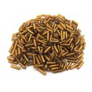 MT-05 - (19 grame) Margele nisip tub maro gold 6mm