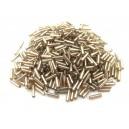 MT-08 - (19 grame) Margele nisip tub capuccino cu miez argintiu 6mm