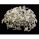 MT-26 - (19 grame) Margele nisip tub alb smoke perlat 6mm