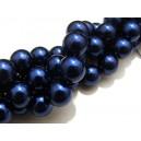 PS14mm-10 - Perle sticla albastru marin sfere 14mm