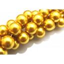 PS14mm-21 - Perle sticla auriu miere sfere 14mm