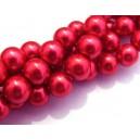 PS12mm-25 - Perle sticla rosu cyclam sfere 12mm
