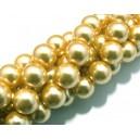 PS12mm-26 - Perle sticla gold 01 sfere 12mm