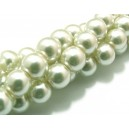 PS12mm-28 - Perle sticla ivory 02 sfere 12mm