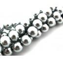 PS10mm-07 - Perle sticla gri sfere 10mm