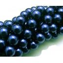 PS10mm-14 - Perle sticla albastru petrol sfere 10mm