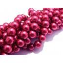 PS8mm-37 - (10 buc.) Perle sticla roz fucsia sfere 8mm