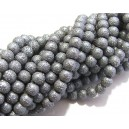PSC6mm-03 - Perle sticla creponate gri sfere 6mm