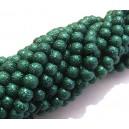 PSC6mm-09 - Perle sticla creponate verde marin sfere 6mm