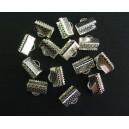 Capat organza argintiu 10*7mm
