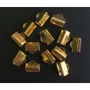 Capat organza auriu 10*7mm
