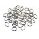 ZAO-03 - (100 buc.) Zale ovale argintiu inchis 7*5mm