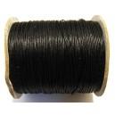 (1 metru) Snur poliester cerat negru 0.8mm