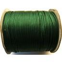 (1 metru) Snur poliester cerat verde padure 1.5mm