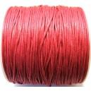 (1 metru) Snur bumbac cerat roz fucsia 1mm