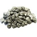(60 grame) - Pietricele decorative argintii sidefate 4-8cm