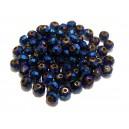 MFR378 - Cristale albastru royal efect AB rondele fatetate 6*4mm