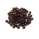 MFR380 - Cristale violet efect AB rondele fatetate 4*3mm