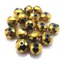MFR381 - Cristale electroplate aurii rondele fatetate 12*8mm