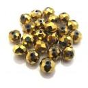 MFR382 - Cristale electroplate aurii rondele fatetate 10*7mm