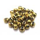 MFR383 - Cristale electroplate aurii rondele fatetate 8*6mm