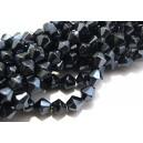 MFB413 - Cristale negru hematit biconice fatetate 6mm