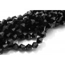 MFB416 - Cristale negre biconice fatetate 6mm