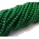 MSP441 - (10 buc.) Margele sticla verde padure sfere 4mm
