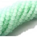 MSP449 - (10 buc.) Margele sticla verde menta pal sfere 6mm