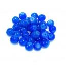MSP454 - (10 buc.) Margele sticla nuante albastru cobalt degrade sfere 8mm