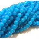 MSP457 - (10 buc.) Margele sticla albastru intens sfere 8mm