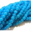 MSP458 - (10 buc.) Margele sticla albastru intens sfere 6mm