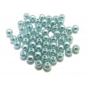 PA5mm-09 - (50 buc.) Perle acril bleu verzui 01 sfere 5mm
