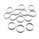 OTE21 - (20 buc.) Zale otel inoxidabil argintiu inchis 10*1mm