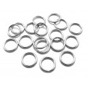 OTE22 - (20 buc.) Zale otel inoxidabil argintiu inchis 10*1.2mm