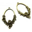 CH03 - Chandelier oval flori bronz antic 42*26mm - STOC FOARTE LIMITAT!!!