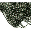 SP4mm-20  - (1 metru) Snur paracord plat verde inchis 4mm
