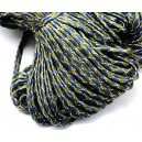 SP4mm-21  - (1 metru) Snur paracord plat verde olive inchis 4mm
