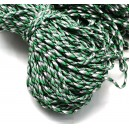 SP4mm-23  - (1 metru) Snur paracord plat verde, gri si alb 4mm