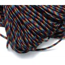 SP4mm-36  - (1 metru) Snur paracord plat multicolor 4mm
