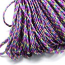 SP4mm-37  - (1 metru) Snur paracord plat multicolor 4mm