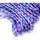 SP4mm-39  - (1 metru) Snur paracord plat bleu si roz 4mm