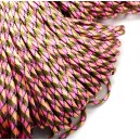 SP4mm-49  - (1 metru) Snur paracord plat multicolor 4mm