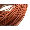 SPN2mm-24A -(1 metru) Snur piele naturala portocaliu caramiziu 2mm